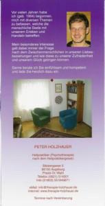Heilpraktiker (Psychotherapie) Peter Holzhauer in Augsburg, Informations-Flyer Seite 6