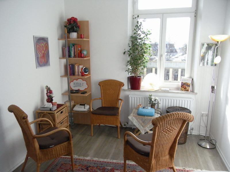 Therapieraum, Praxis für Psychotherapie nach dem Heilpraktikergesetz, Peter Holzhauer, Augsburg